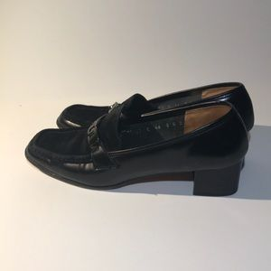 FERRAGAMO Leather Shoes Block Heels
